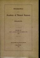 Proceedings of The Academy of Natural Sciences (Vol. LIV, Part I -- Jan., Feb., Mar., Apr., 1902) [Pdf/ePub] eBook