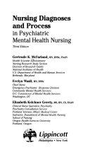 Nursing Diagnoses And Process In Psychiatric Mental Health Nursing
