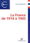 Pdf La France de 1914 à 1945 Telecharger
