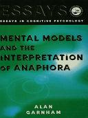 Pdf Mental Models and the Interpretation of Anaphora Telecharger