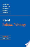Kant Political Writings Book PDF
