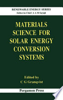 Materials Science For Solar Energy Conversion Systems Book PDF