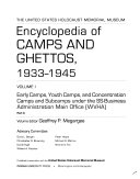 The United States Holocaust Memorial Museum Encyclopedia of Camps and Ghettos  1933 1945 Book