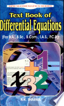 Text Book of Differential Equations
