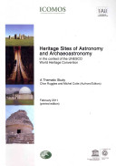 Pdf Heritage Sites of Astronomy and Archaeoastronomy in the Context of the UNESCO World Heritage Convention