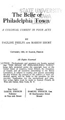 The Belle of Philadelphia Town Book PDF