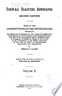 Federal Statutes Annotated