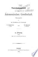 Vierteljahrsschrift der Astronomischen Gesellschaft