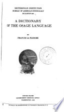 A Dictionary of the Osage Language