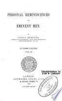 Personal Reminiscences of Eminent Men
