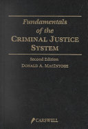 Fundamentals of the Criminal Justice System