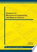 Research In Mechanical Engineering And Material Science Book PDF