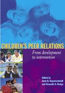 Children's Peer Relations