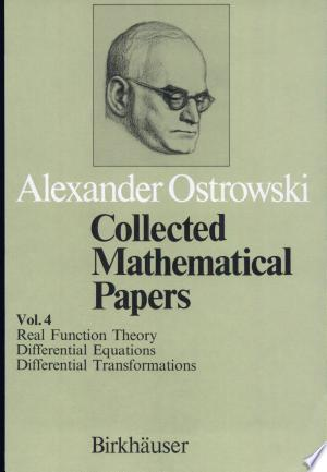 [pdf - epub] Collected mathematical papers. 4 (1984) - Read eBooks Online