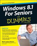 Windows 8 1 For Seniors For Dummies