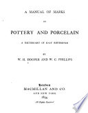 A Manual of Marks on Pottery and Porcelain Book
