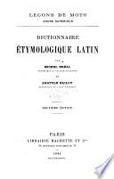 Dictionnaire étymologique latin