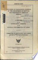 Education of Dependents Overseas by the Department of Defense and Independent American Schools