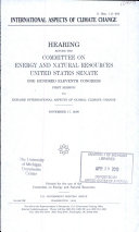 International Aspects of Climate Change