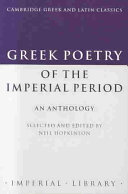 Greek Poetry of the Imperial Period
