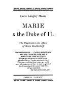 Marie   the Duke of H   the Daydream Love Affair of Marie Bashkirtseff