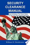 Security Clearance Manual Book PDF
