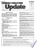 Commerce Publications Update
