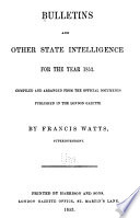 Bulletins and Other State Intelligence Book PDF