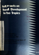 Abstracts on Rural Development in the Tropics Book