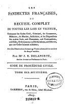 Code De Procédure Civile. Tome II.