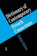 Pdf A Dictionary of French Connectors