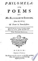Philomela Or Poems The Third Edition
