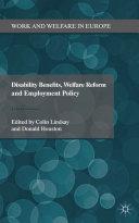 Disability Benefits, Welfare Reform and Employment Policy Pdf/ePub eBook
