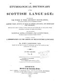 An Etymological Dictionary of the Scottish Language ebook