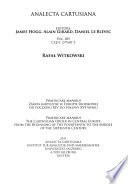Zakon kartuzów w Europie Środkowej od początku XIV do połowy XVI wieku  , Parte 2