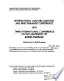 International Land Reclamation And Mine Drainage Conference And Third International Conference On The Abatement Of Acidic Drainage Mine Drainage Book PDF