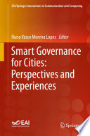 Smart Governance for Cities  Perspectives and Experiences Book