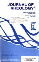 Journal of Rheology