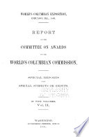 Report of the Committee on Awards of the World s Columbian Commission