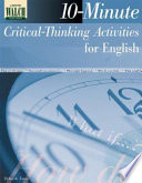 10 Minute Critical Thinking Activities For English Book PDF