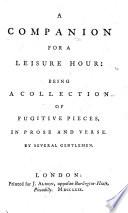 A Companion for a Leisure Hour