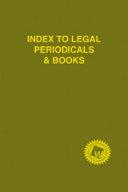 Index To Legal Periodicals Books 2014