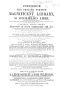 Catalogue of the choicer portion of the     library formed by M  G  Libri     which will be sold on Monday  1st of August     and twelve following days  etc   With an introduction by G  Libri