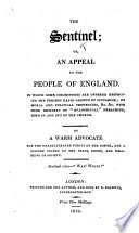 The Sentinel  Or  an Appeal to the People of England  In which Some Conjectures are Offered Respecting the Present Rapid Growth of Sectarism      By a Warm Advocate for the Unadulterated Purity of the Gospel  Etc Book