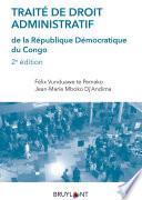 Trait De Droit Administratif De La R Publique D Mocratique Du Congo