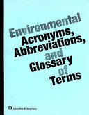 Environmental Acronyms Abbreviations And Glossary Of Terms
