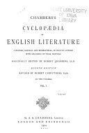 Pdf Chambers's Cyclopædia of English Literature