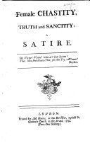 Female Chastity, Truth and Sanctity: a Satire