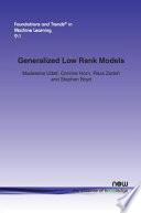 Generalized Low Rank Models