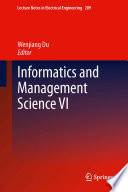 Informatics and Management Science VI Book